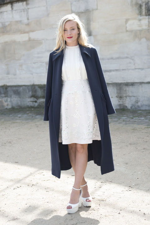 11-valentines-day-outfit-idea-white-lace-dress-navy-coat