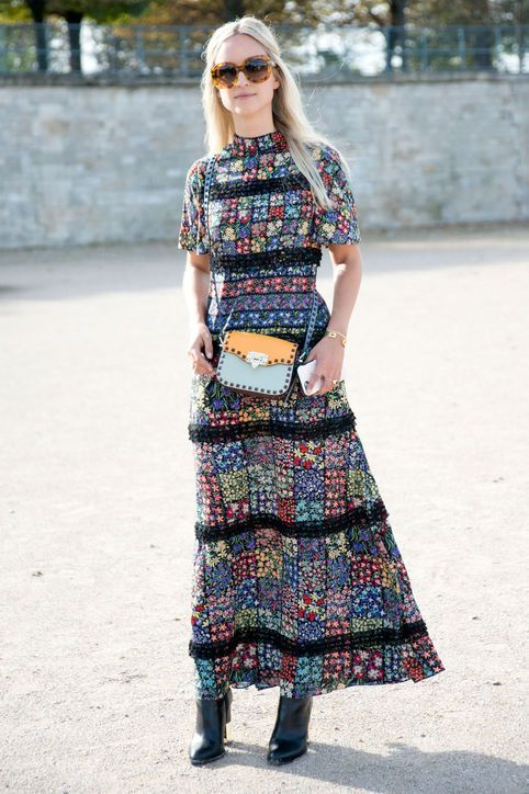 floral-patchwork-maxi-dress-street-style